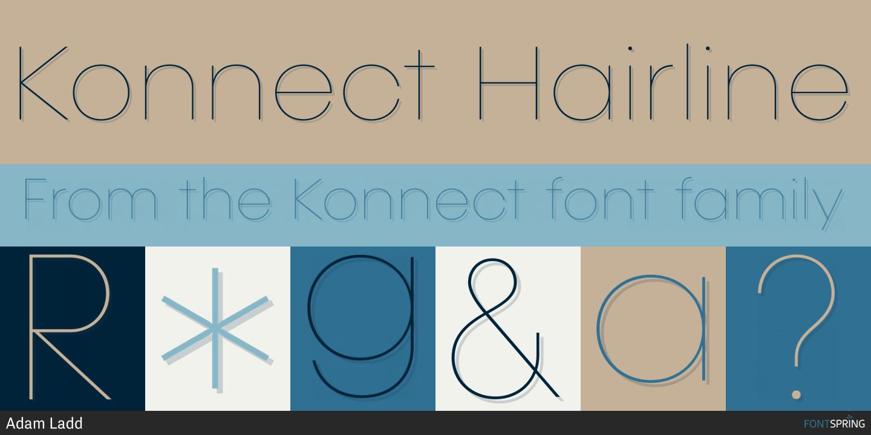 Fontspring | Similar Fonts To Konnect
