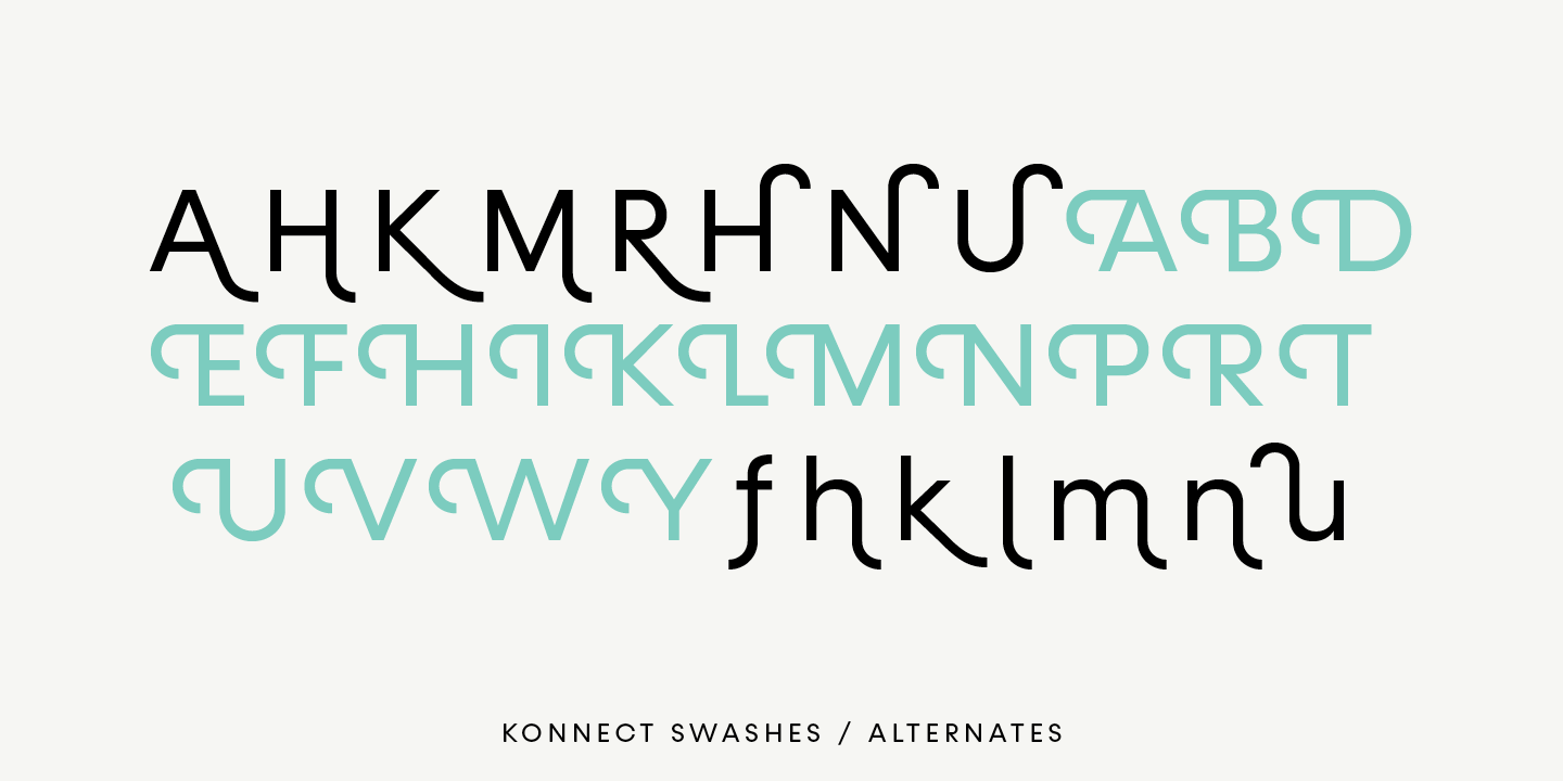 Fontspring Konnect Fonts by Adam Ladd