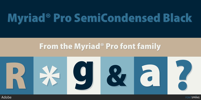 Myriad Pro Semibold Dafont