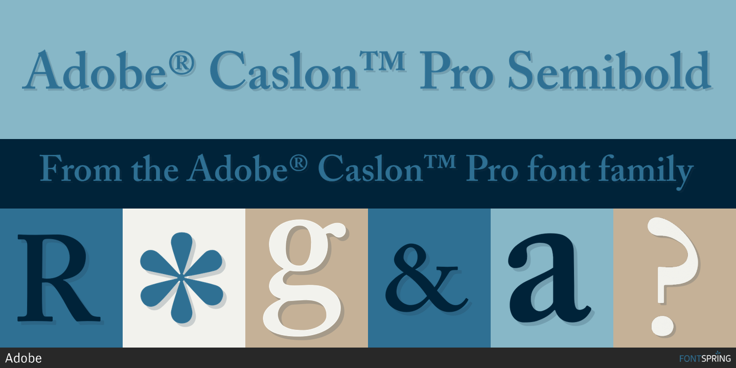 adobe caslon pro normal western font free download