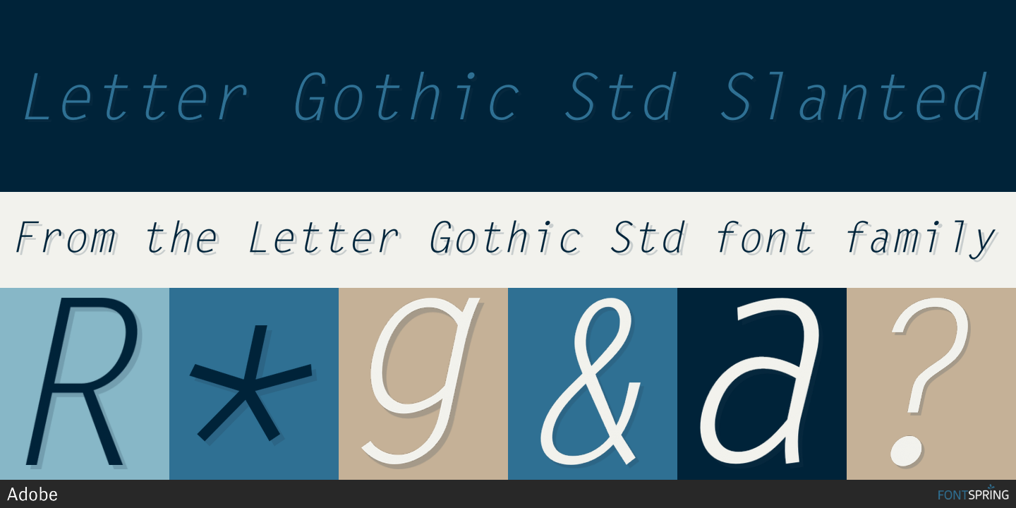 Fontspring  Letter Gothic Std Fonts By Adobe
