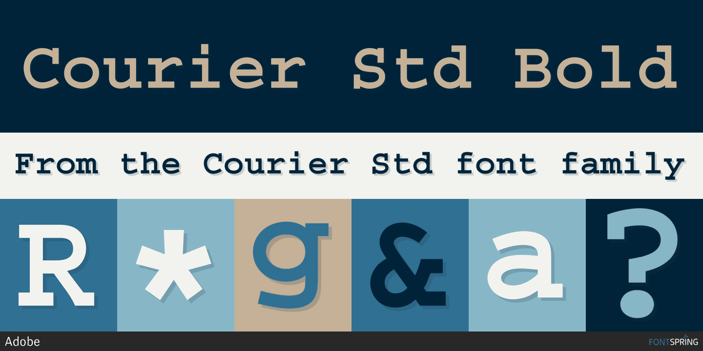 Fontspring | Courier Std Fonts by Adobe