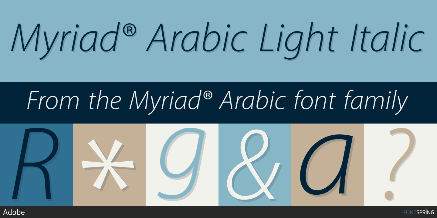 Myriad family font free download