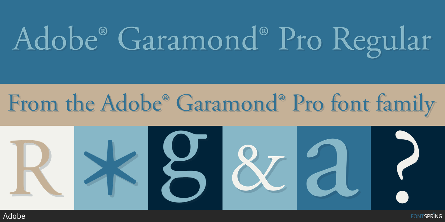 Fontspring | Similar Fonts To Adobe® Garamond® Pro