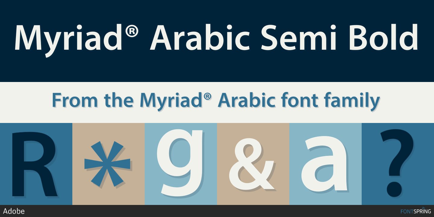 Fontspring | Myriad® Arabic Fonts by Adobe