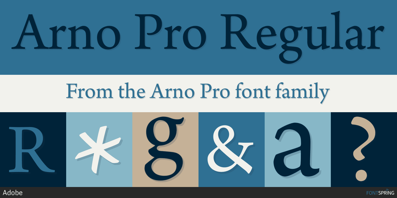 Fontspring | Similar Fonts To Arno Pro