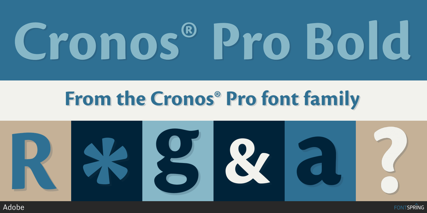 Cronos Pro Caption Font