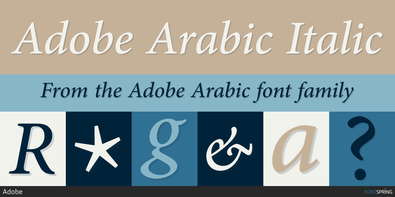 Fontspring | Adobe Arabic Fonts by Adobe