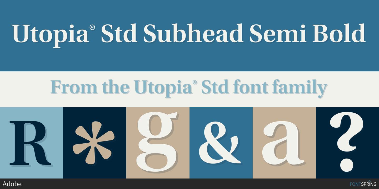 Download Free Font Utopia Std
