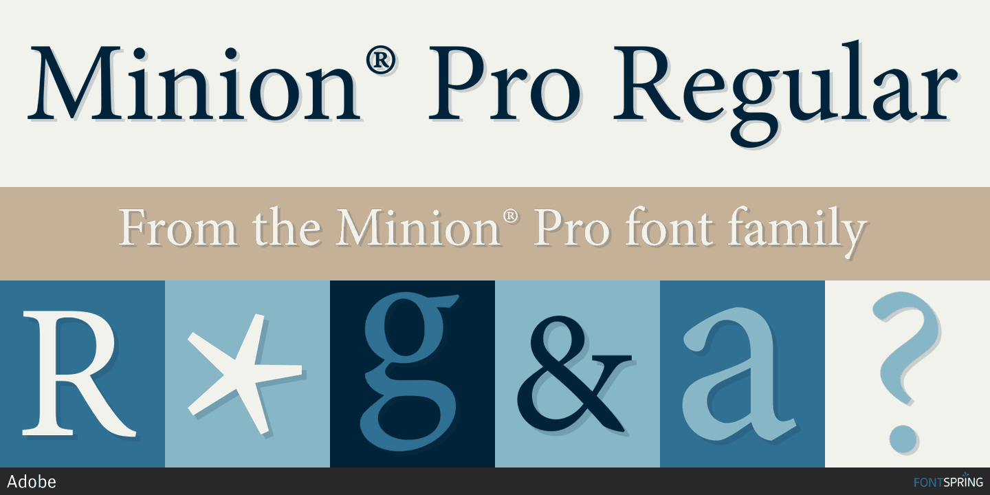 Fontspring | Similar Fonts To Minion® Pro