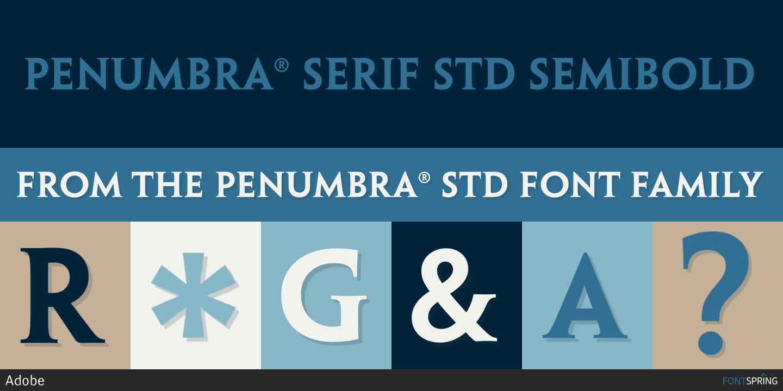 Download free Penumbra Serif Std Regular font