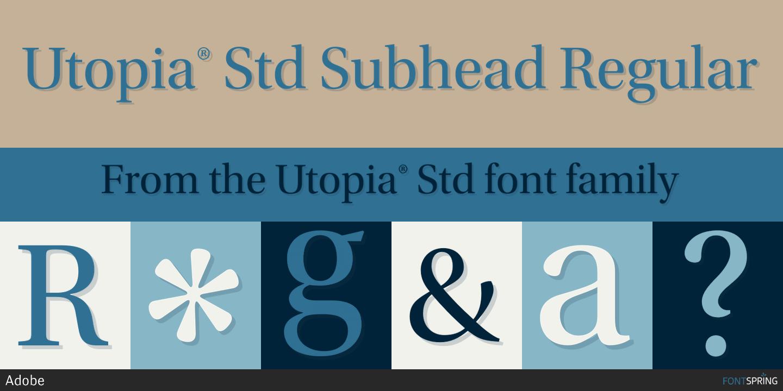 Utopia Regular font