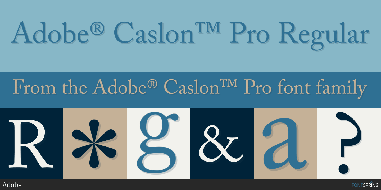 Caslon - Font Download - The World's Biggest Font Site