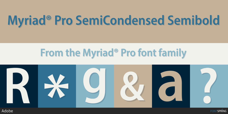 Myriad Pro Semibold Font