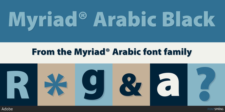 Fontspring | Myriad® Arabic Fonts by Adobe