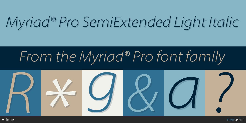 Download Free Font Myriad Pro