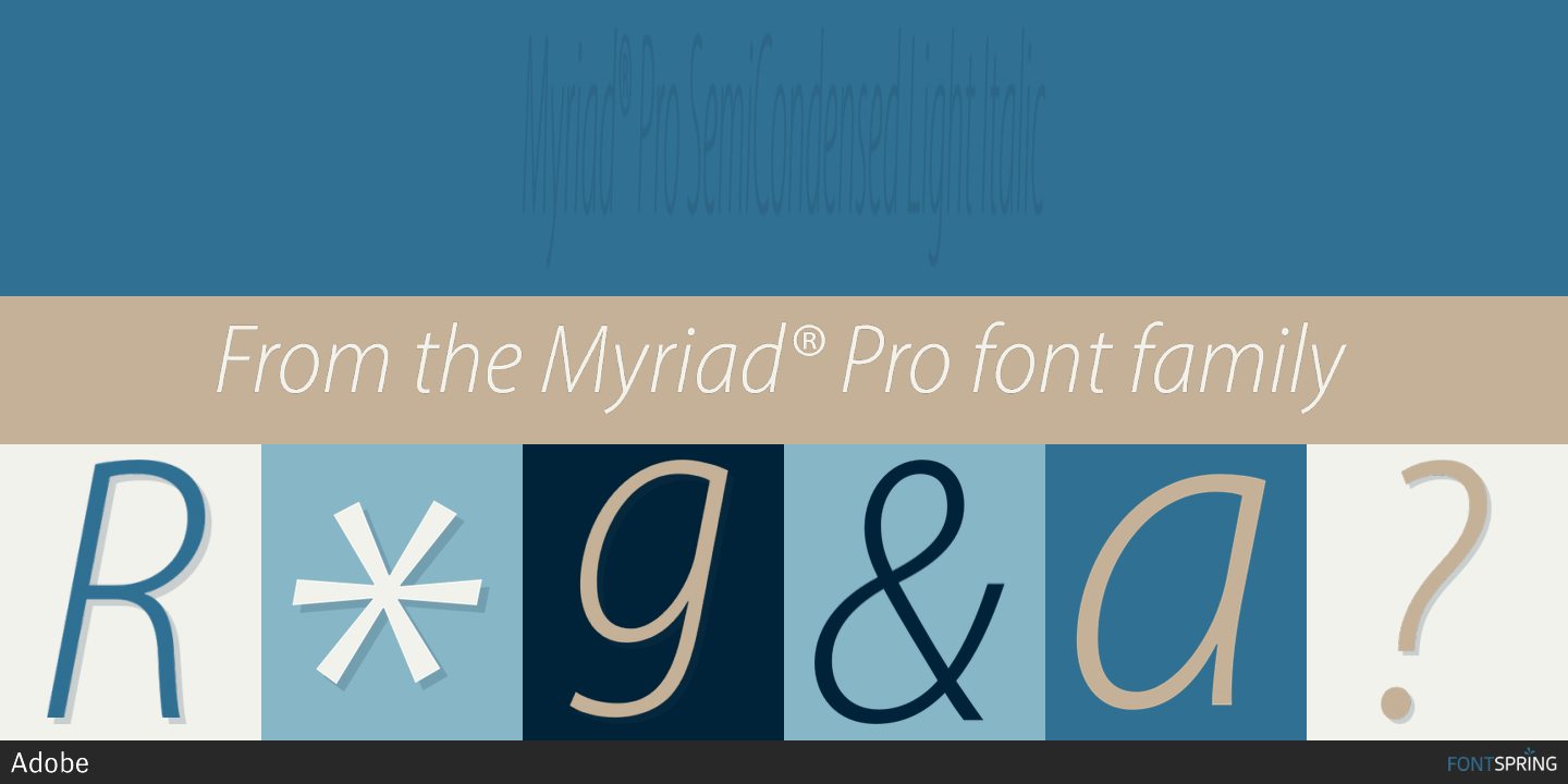 Myriad Pro Condensed Light - sportpast
