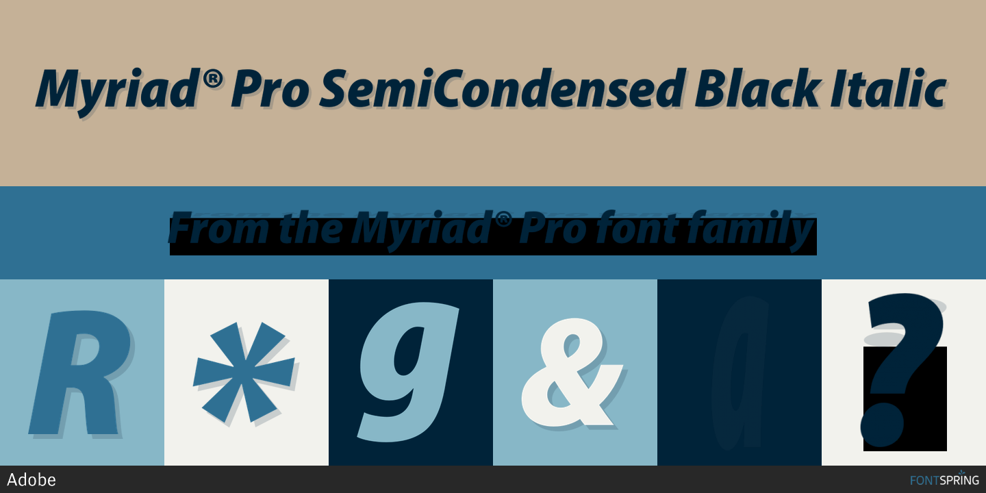 Try These Myriad Pro Light Semi Condensed Font Free Download