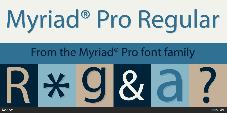 Myriad Pro Font Images - Mentale resonanz methode