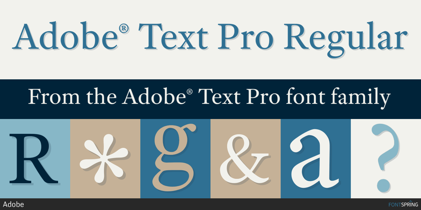 Fontspring | Similar Fonts To Adobe® Text Pro