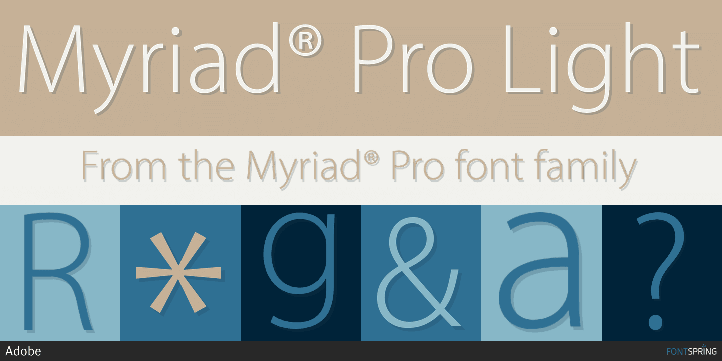 Fontspring | Similar Fonts To Myriad® Pro
