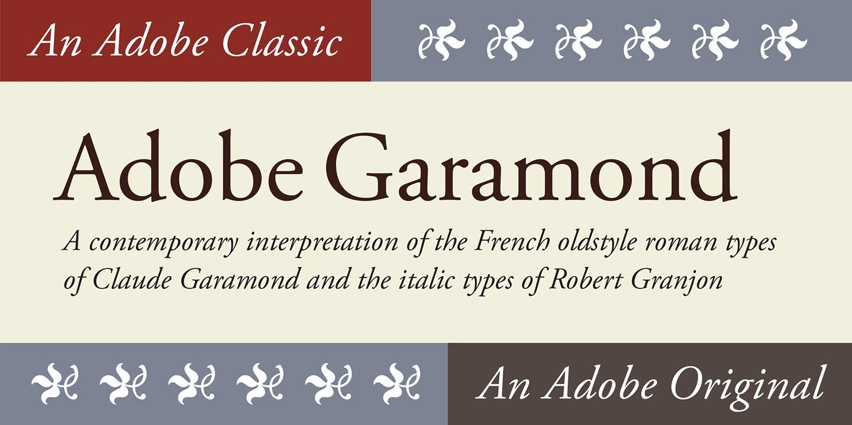 Garamond pro