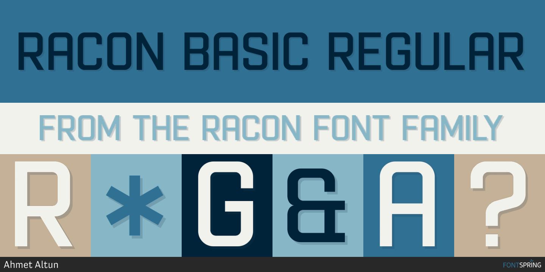 Fontspring | Similar Fonts To Racon