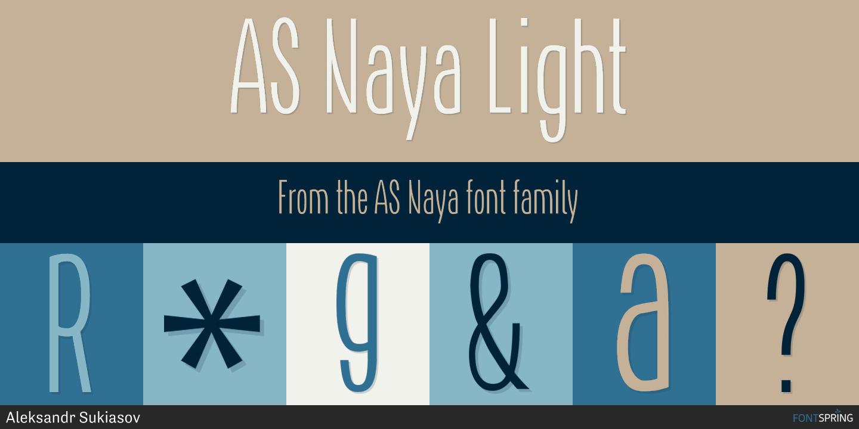 Fontspring | Similar Fonts To AS Naya