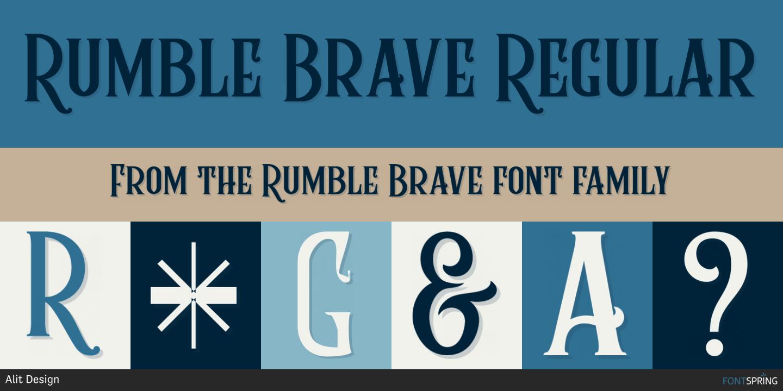 Fontspring   Similar Fonts To Rumble Brave