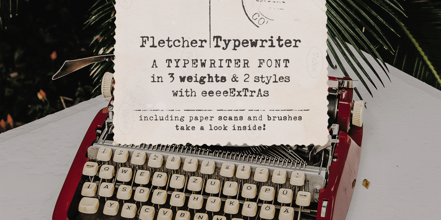 Fontspring | Fletcher Typewriter Font & Extras Fonts by Ana's Fonts