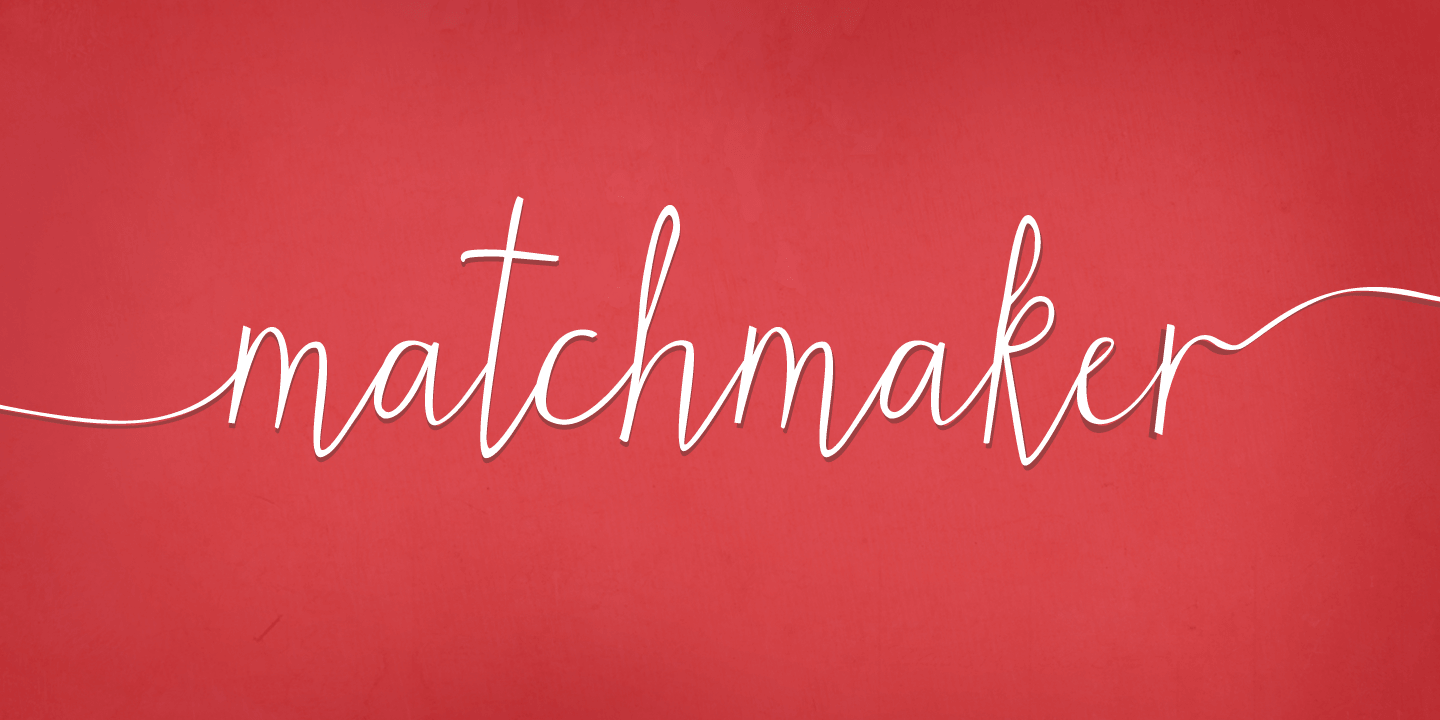 Fontspring   Matchmaker Font by Angie Makes