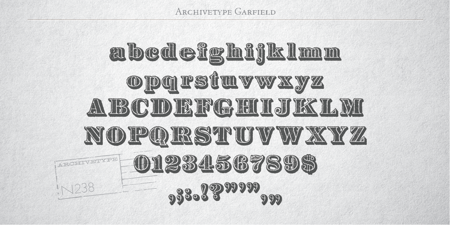 Archive Garfield Font Fontspring