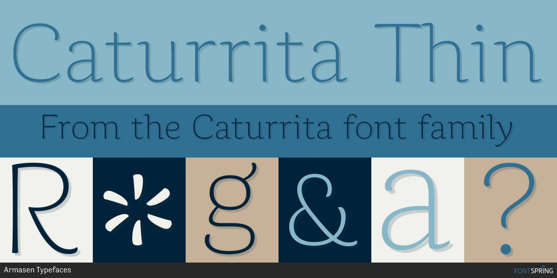 Fontspring | Similar Fonts To Caturrita