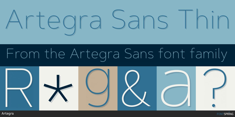 Fontspring   Similar Fonts To Artegra Sans