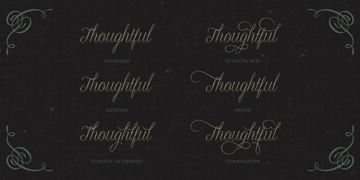 Graceful font family - 1