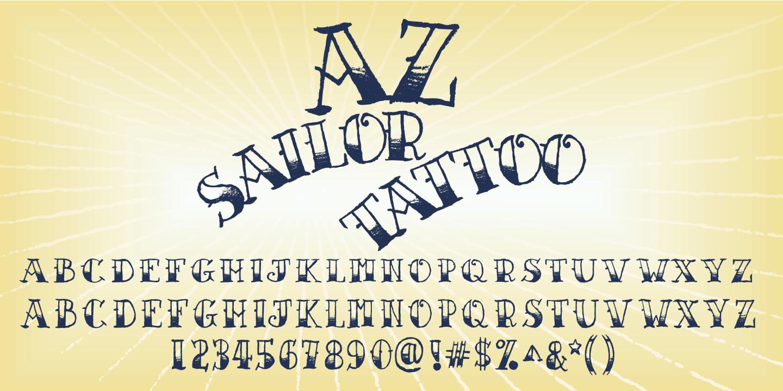 Fontspring  AZ Sailor Tattoo Font by Artist of Design