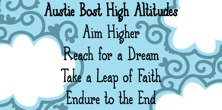 Austie Bost High Altitudes font family
