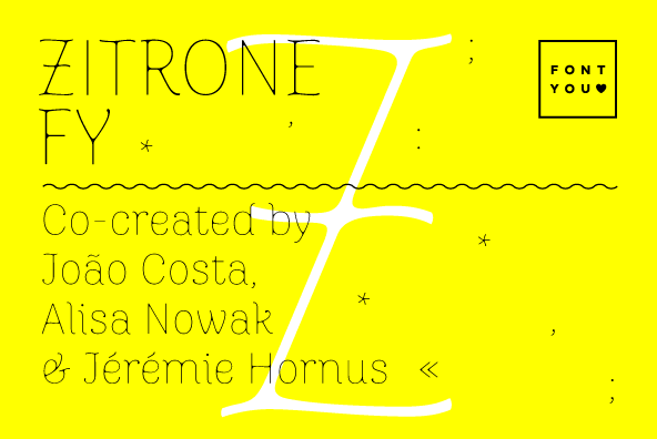 Zitrone FY font family