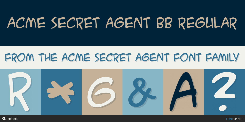 Similar Fonts To Acme Secret Agent Fontspring