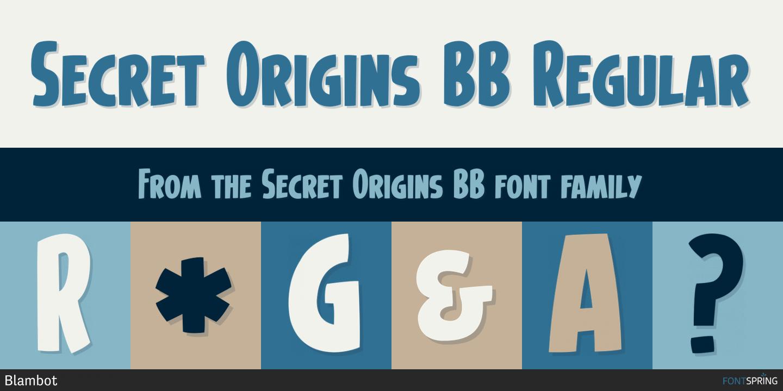 fontspring similar fonts to secret origins bb