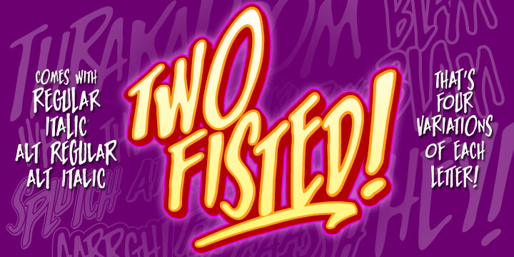 Two Fisted font family