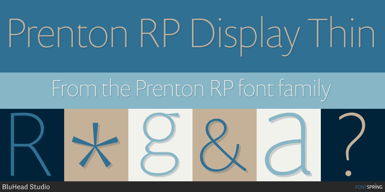 Fontspring | Similar Fonts To Prenton RP