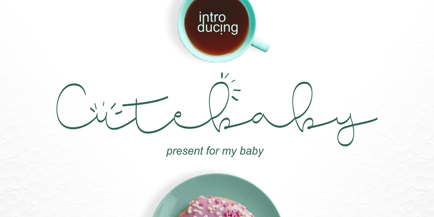 Fontspring Cute Baby Fonts By Bonjour Type