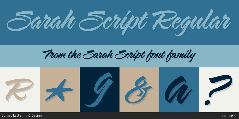 Fontspring   Similar Fonts To Sarah Script