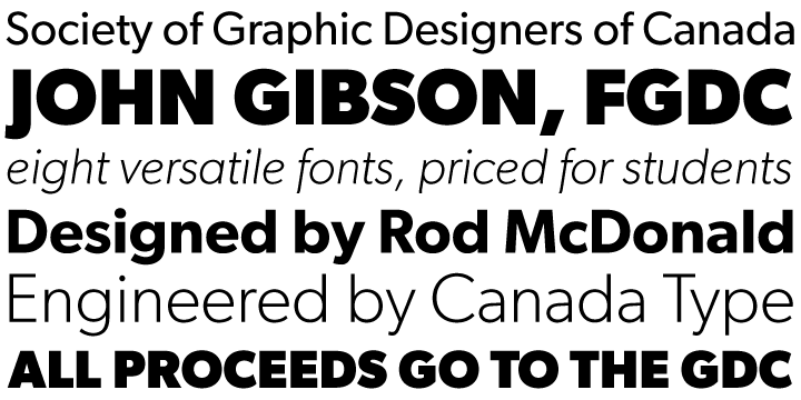 Gibson font family - 1