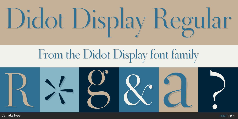 Fontspring | Similar Fonts To Didot Display