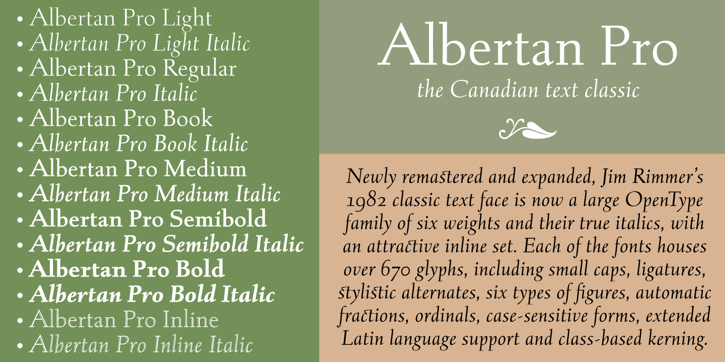 Fontspring | Albertan Pro Fonts by Canada Type