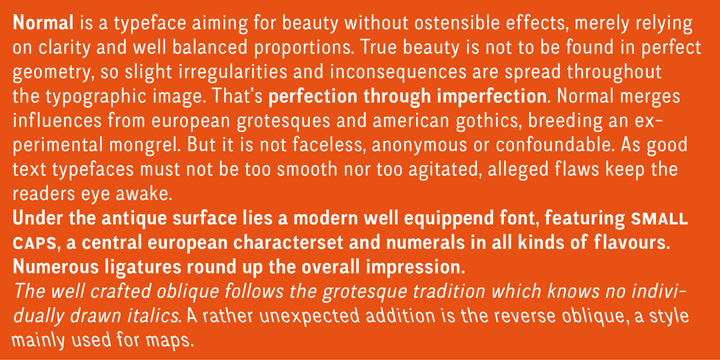CA Normal font family - 4