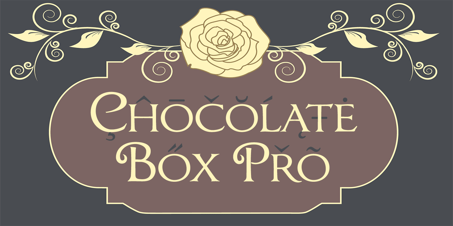 Chocolate Box Pro font family - 1