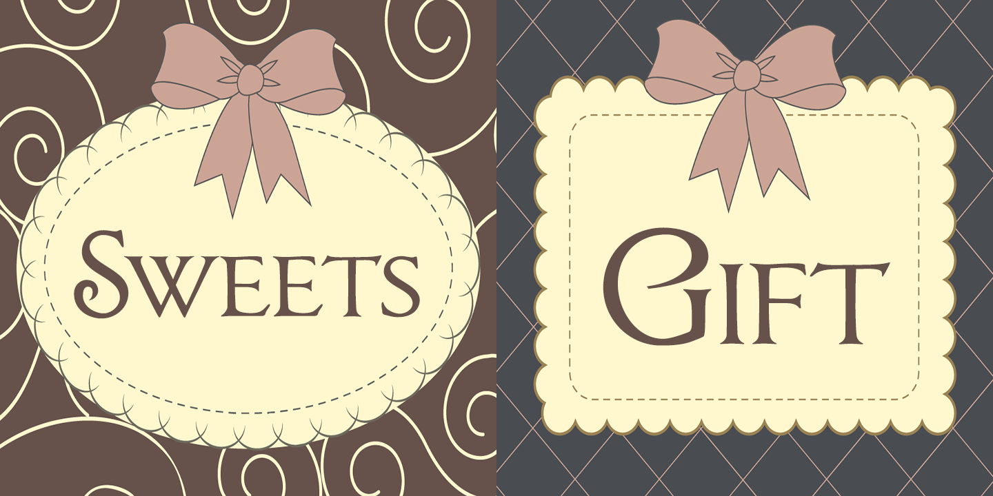 Chocolate Box Pro font family - 2